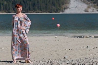 Kleid Kimono Kleid Boho Kleid Lange