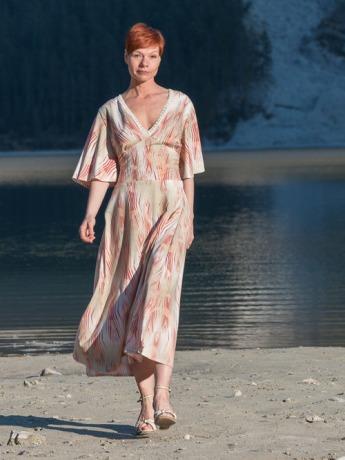 Lange sommerkleid Ethno Kleid Boho Kleid