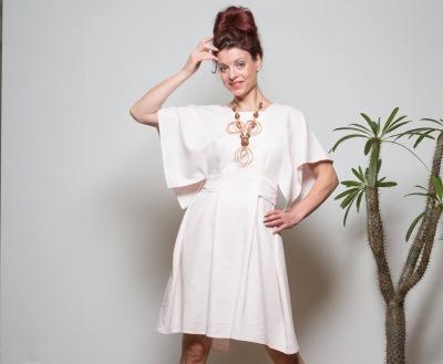 Leinen Kleid Sommerkleid Schlichtes Kleid ROTETULPE