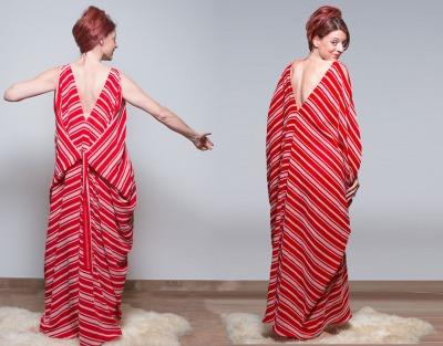 Rote Kimono Kleid Boho kleid Borneo