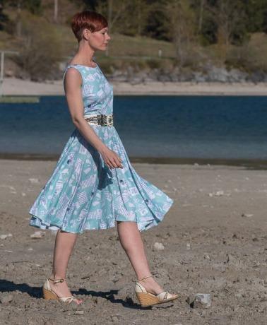Sommerkleid Dejaveu Jersey Kleid in Blau
