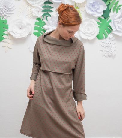 ROTETULPE Winterkleid Kimono Kleid Lockeres Kleid