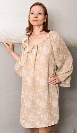 Seidenkleid mit Blumen Sommerkleid Brautkleid Seidentunika