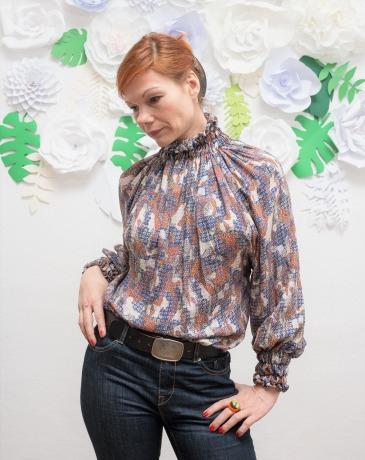 Frauen Bluse Langarm Pullover Bunte Bluse