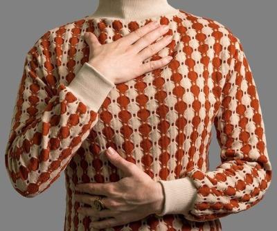 Kleid Rio Strickkleid mit Rollkragen Bunter