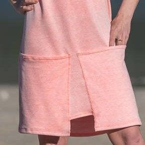 Kleid Qube Sommerkleid ROTETULPE Jersey mit