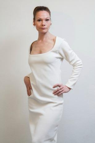 Schlichtes Brautkleid Hochzeitskled ROTETULPE Kleid New