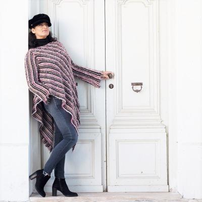 Lange Strickpullover mit Kimono ärmel Pullover