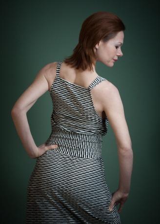 Boho Kleid Jolie Sommerkleid schwarz weiß
