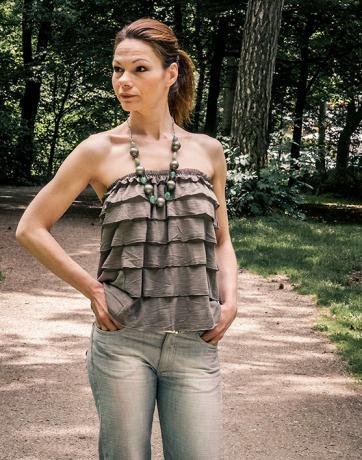 Grüne Sommer Top Rock Vicky mit