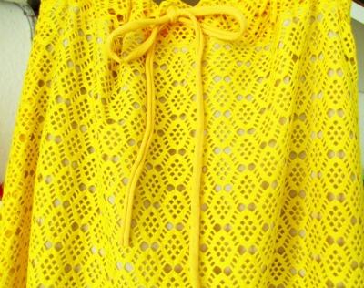 Sommerrock aus Spitze Gelb Bohostyle Rock