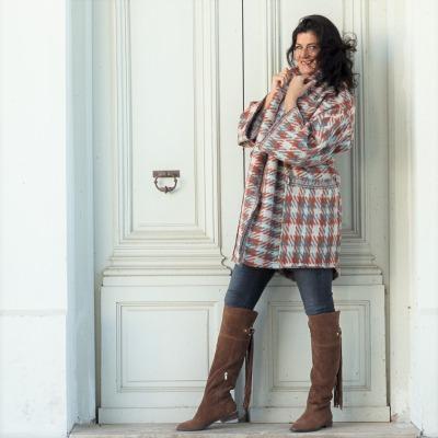 Lange Strickjacke für Frauen Winter Mantel