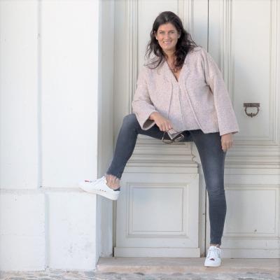 ROTETULPE Pullover in Rosa Lässigers Oberteil