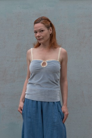 Sommer Top Lisi Top Hellblau Top