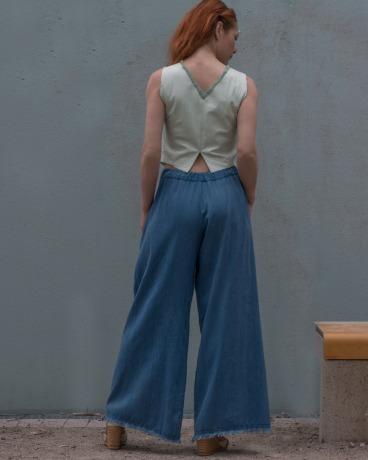 Weite Hose Hosenrock - Jeanshose Blue