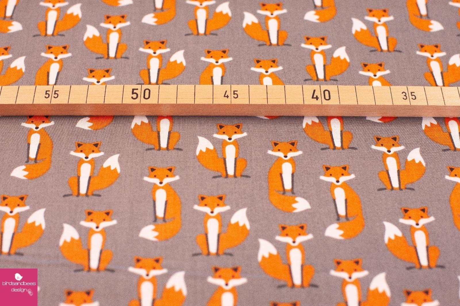 Fabulous Foxes mini grau by RKaufman