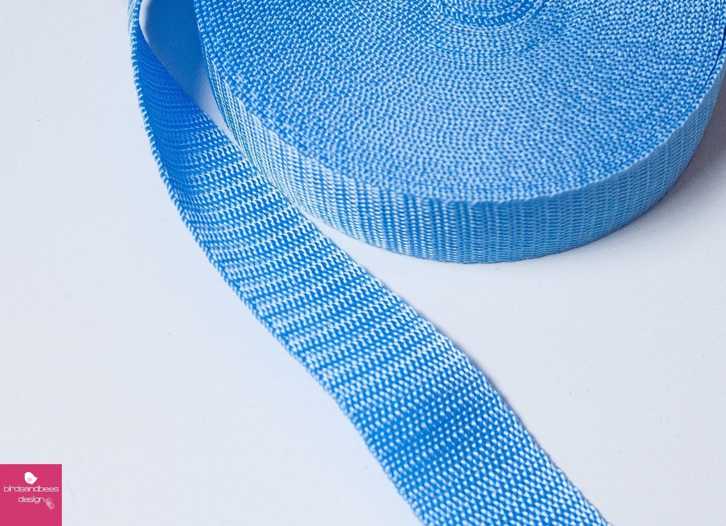Gurtband Stern 1m 30mm - Hellblau