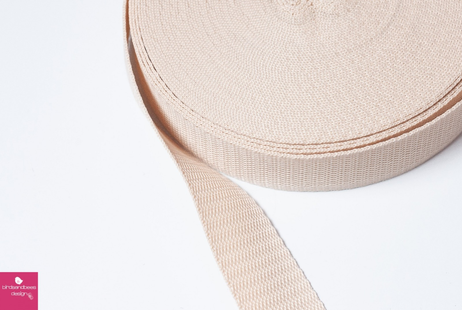 Gurtband Stern 1m 30mm - Nude