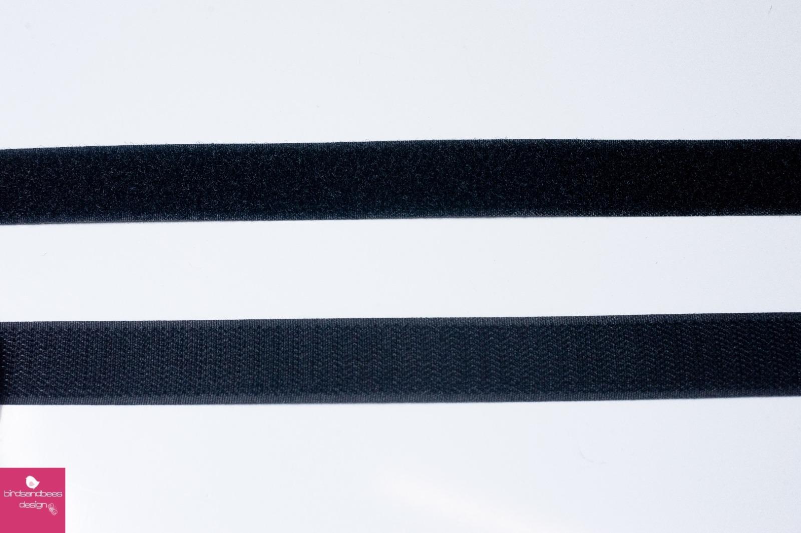 Klettband 1m 25mm - Schwarz