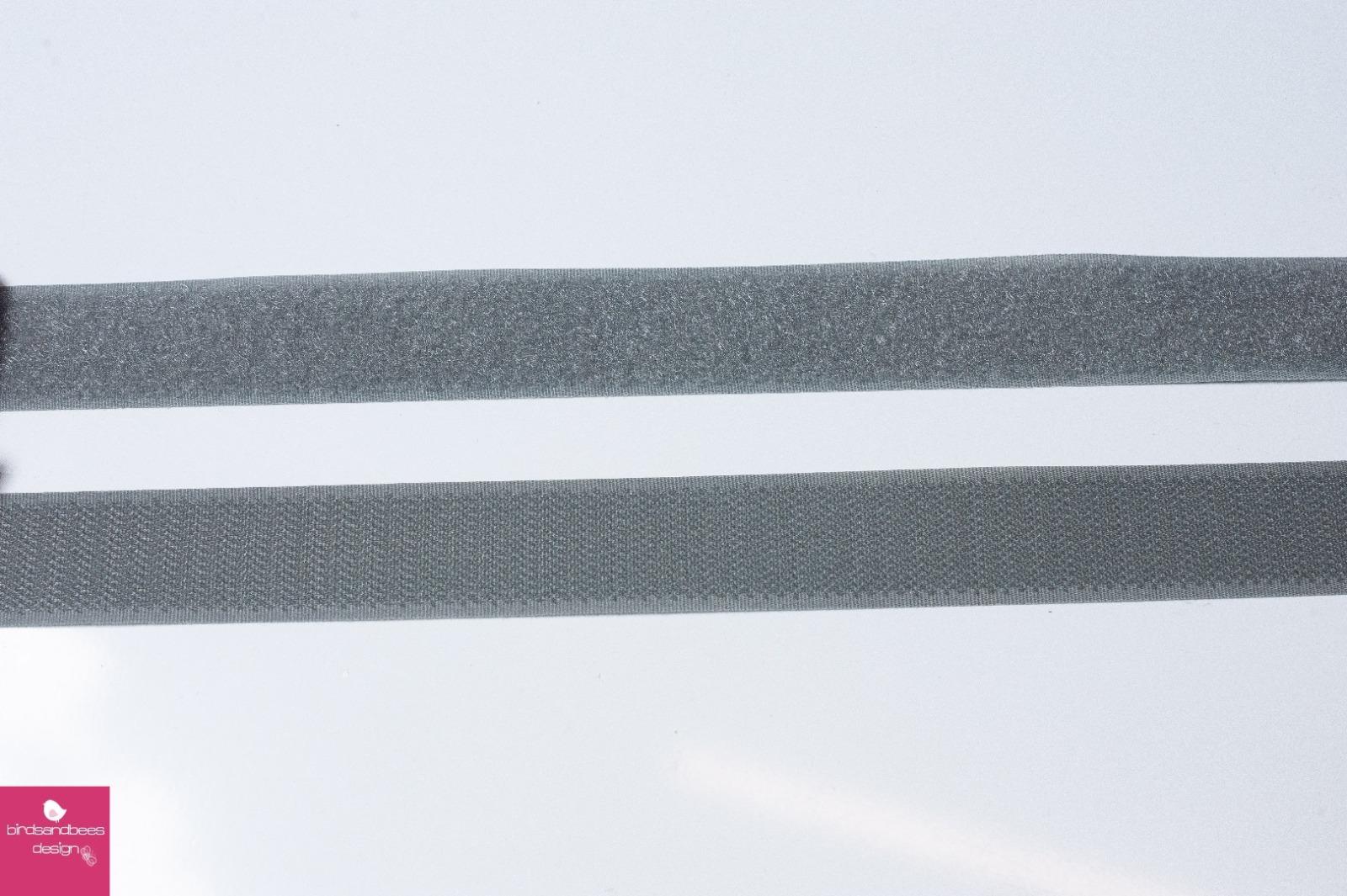 Klettband 1m 25mm - Grau