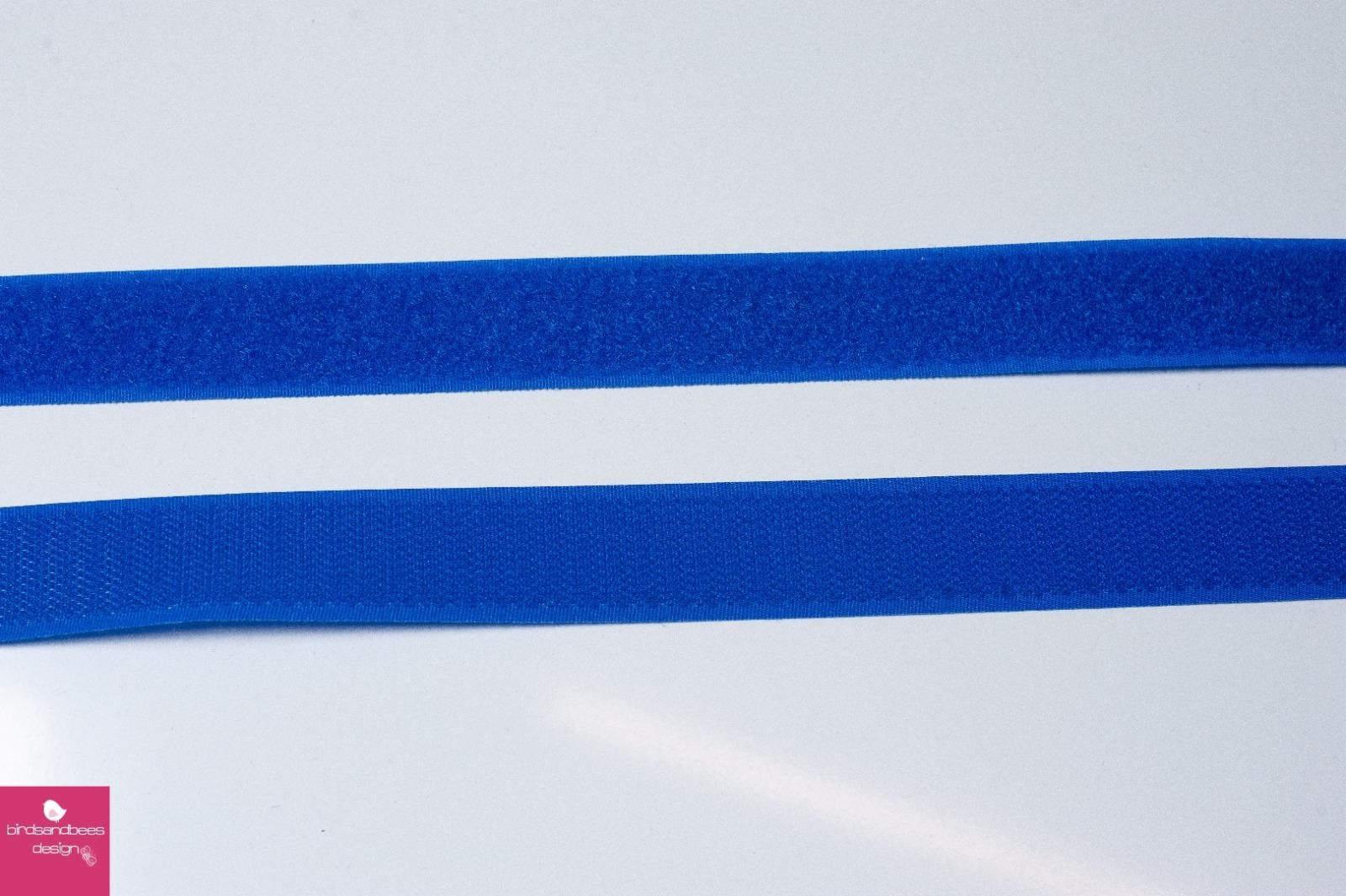 Klettband 1m 25mm - Blau