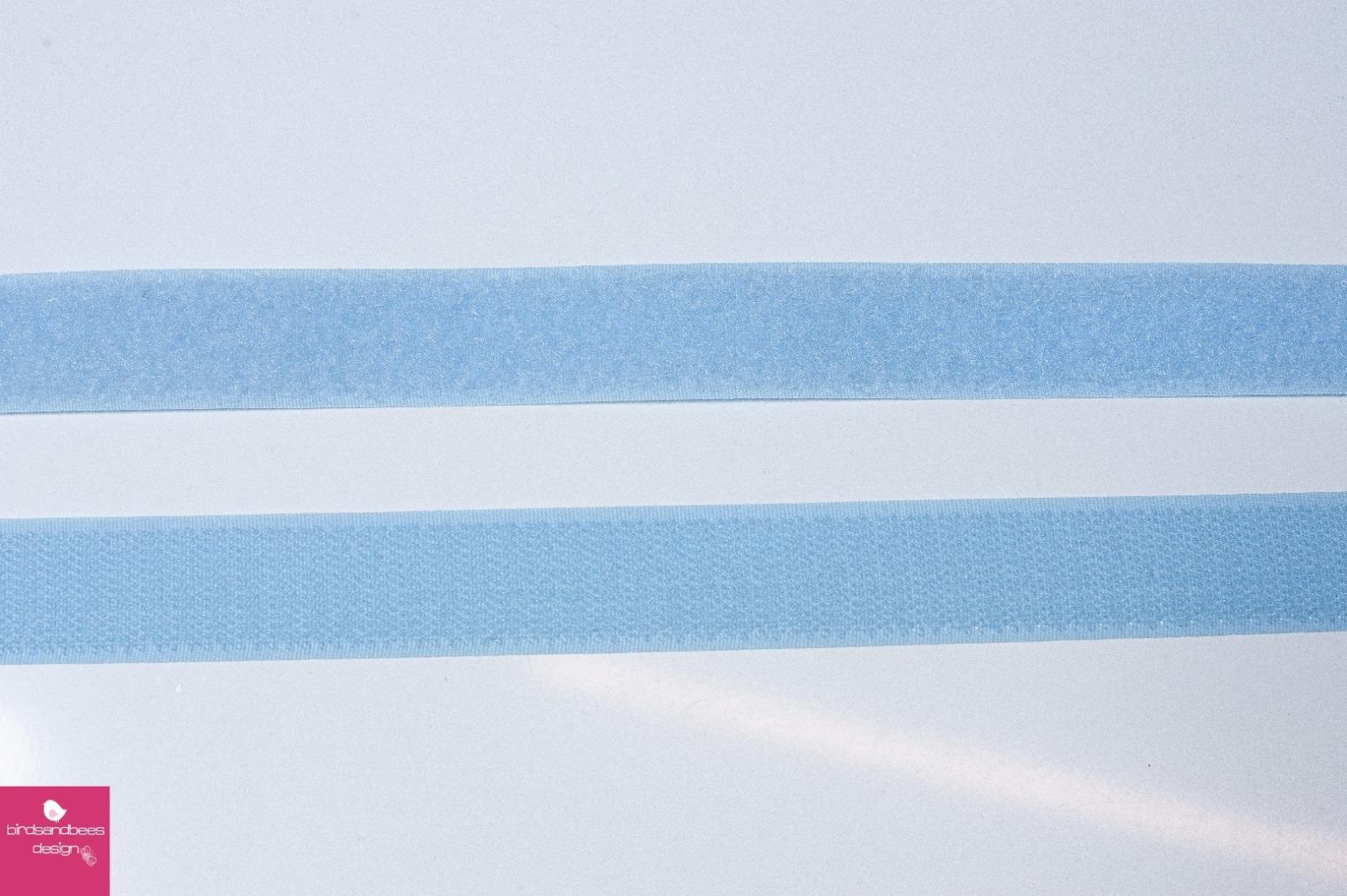 Klettband 1m 25mm - Hellblau