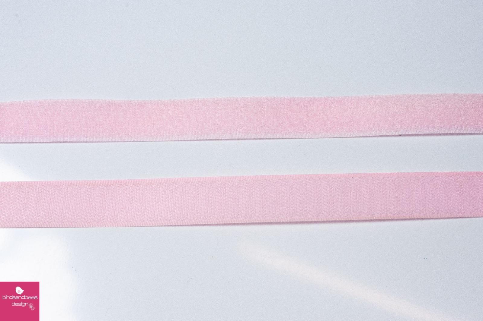 Klettband 1m 25mm - Rosa