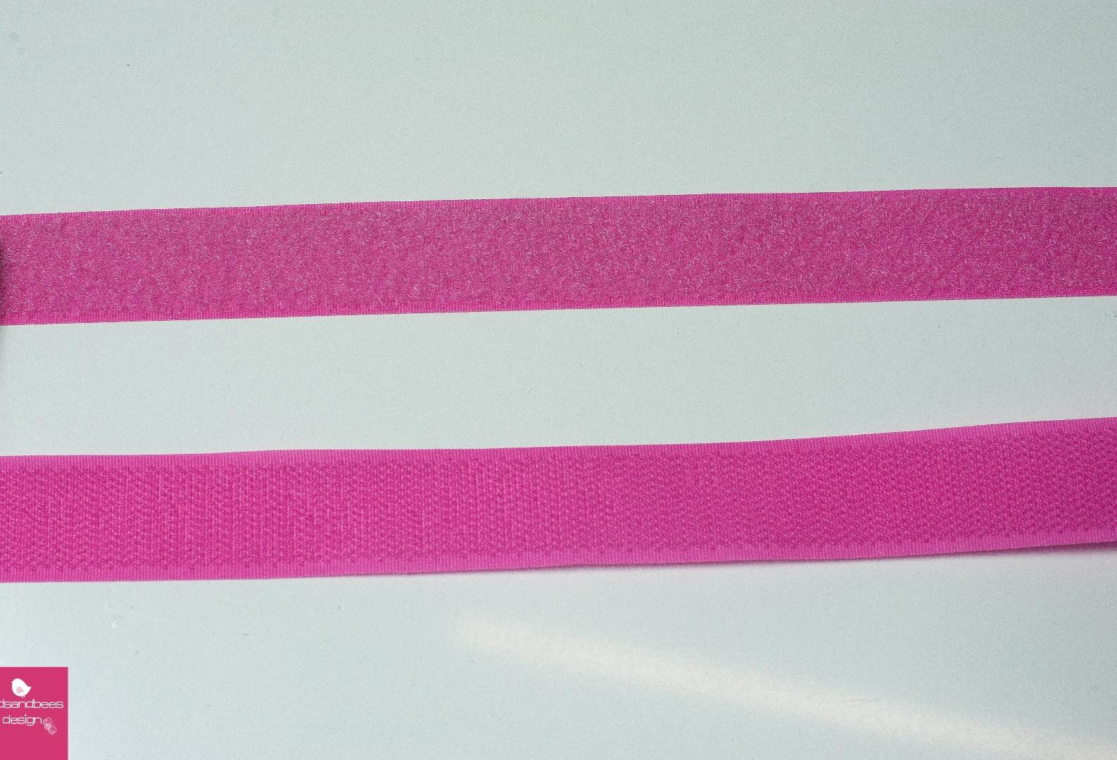 Klettband 1m 25mm - Pink