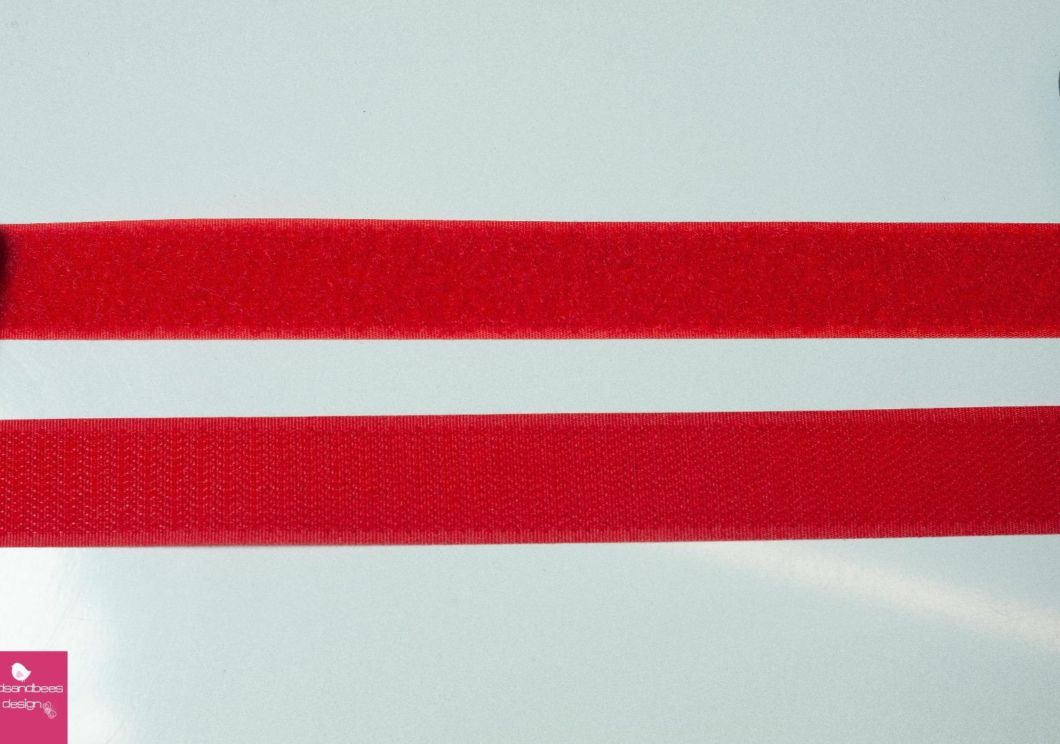 Klettband 1m 25mm - Rot