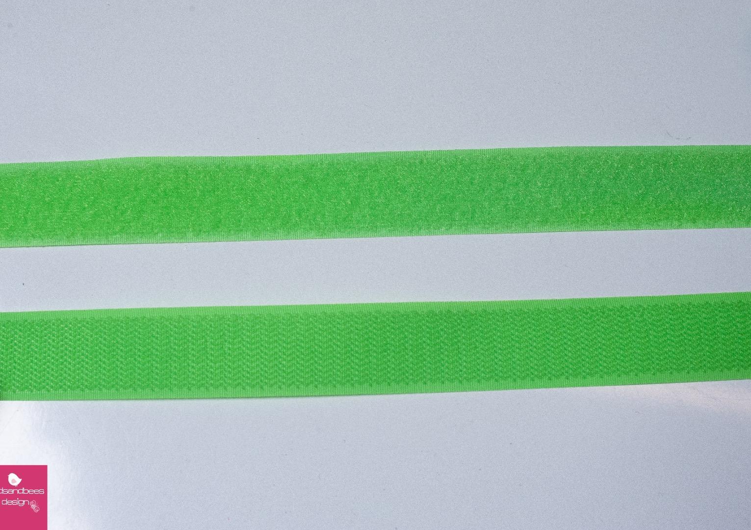 Klettband 1m 25mm - Neon -