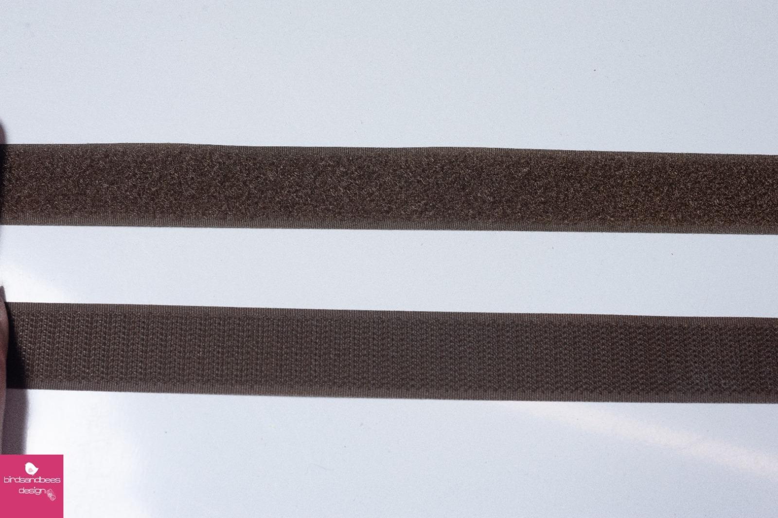 Klettband 1m 25mm - Braun