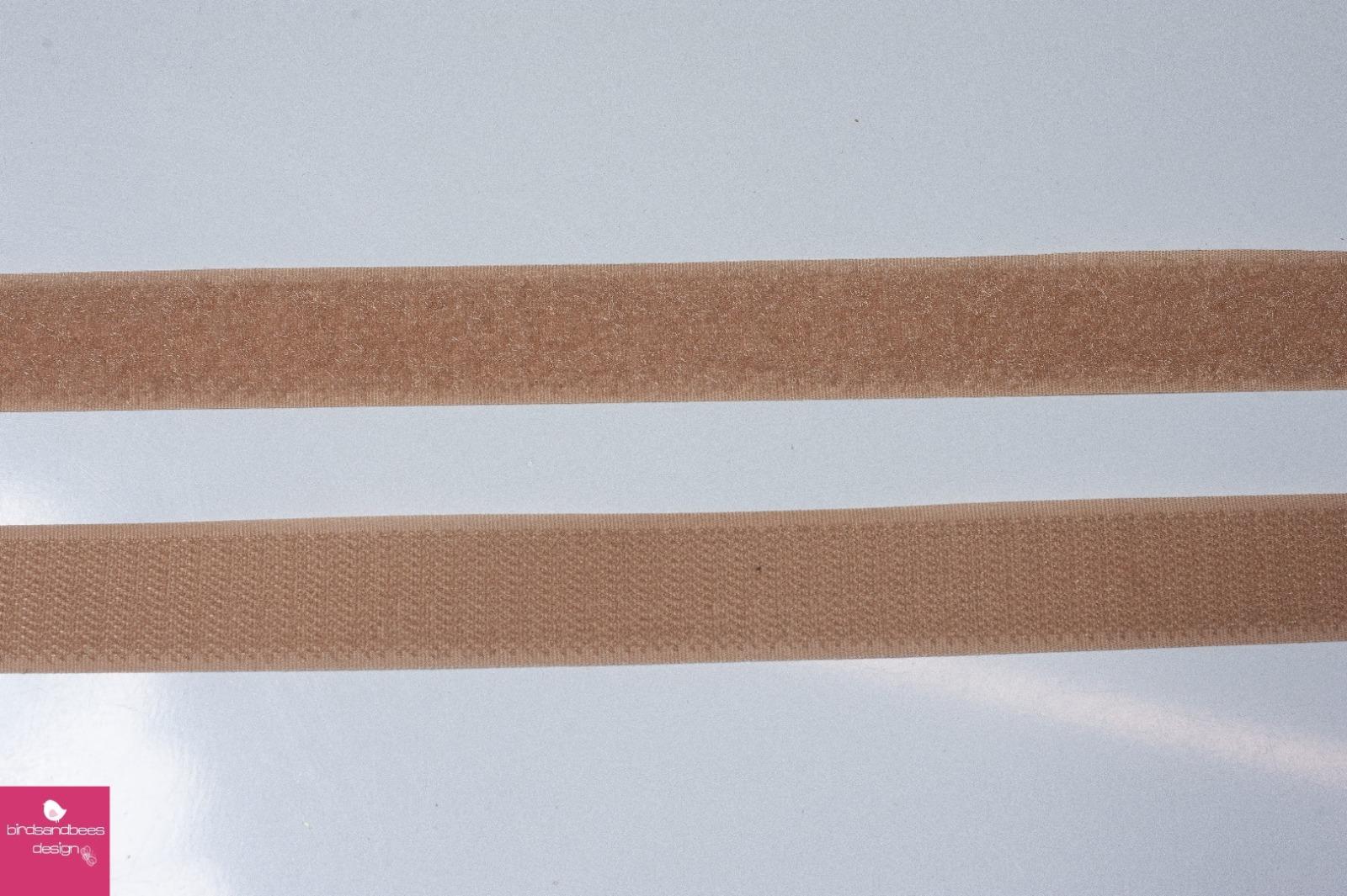 Klettband 1m 25mm - Beige