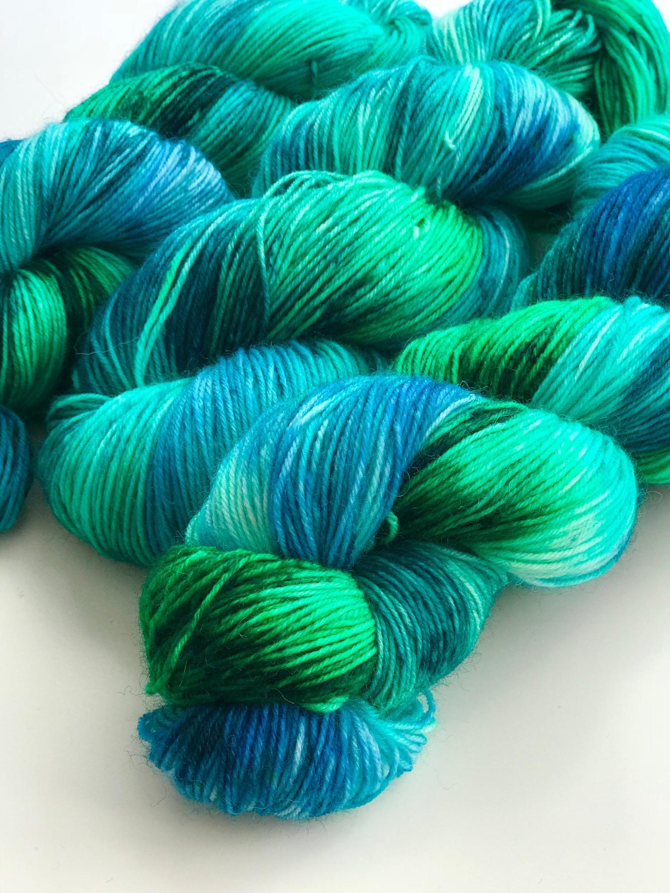 OCEAN BREEZE - handgefärbte Sockenwolle