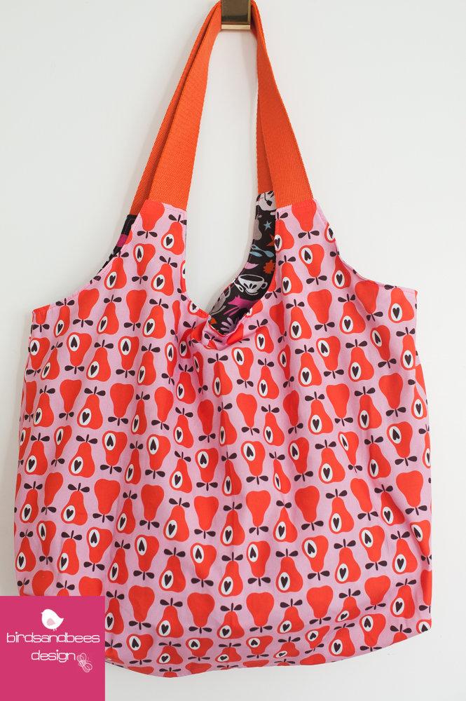 Schultertasche-Markttasche Simply Pears