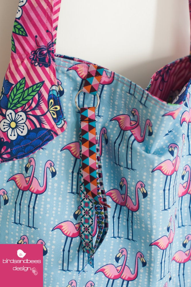 Schultertasche-Beutelatsche Aloha Flamingo 4