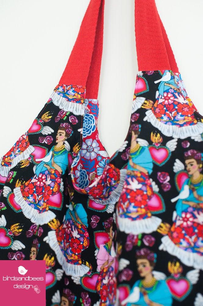 Schultertasche-Markttasche Frieda 3