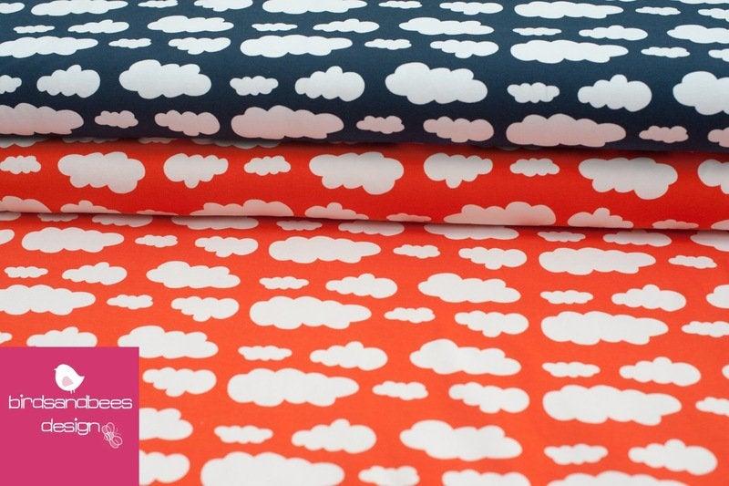 VICENTE Wolken orange Jersey Öko-Tex-Standard 3