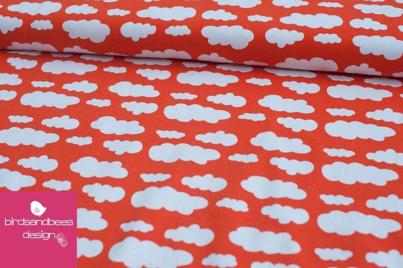 VICENTE Wolken orange Jersey Öko-Tex-Standard