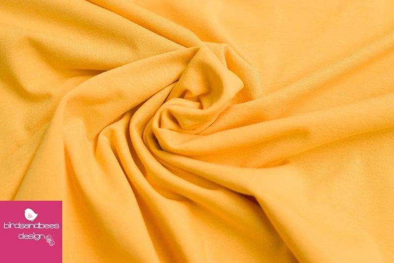 Baumwoll-Jersey UNI gelb
