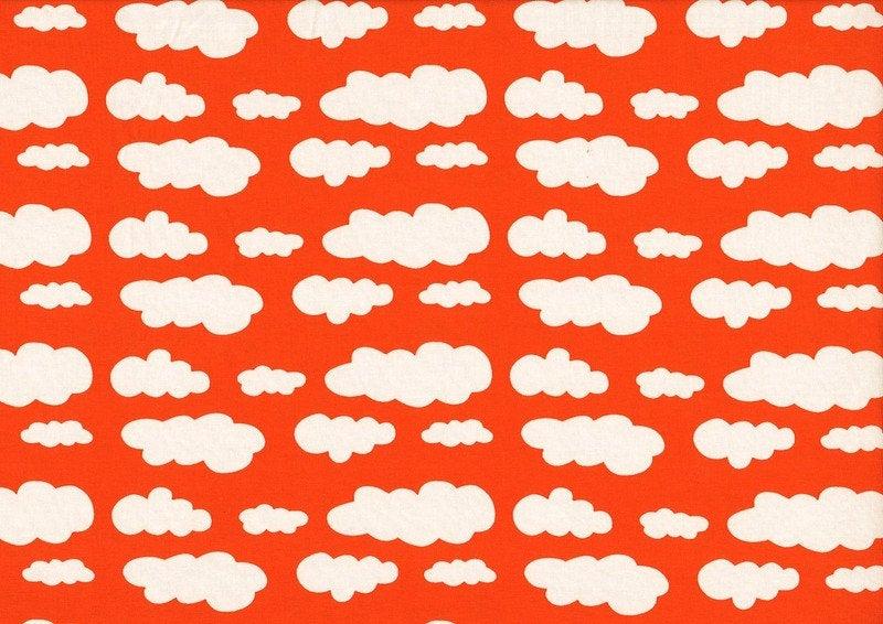 VICENTE Wolken orange Jersey Öko-Tex-Standard 4