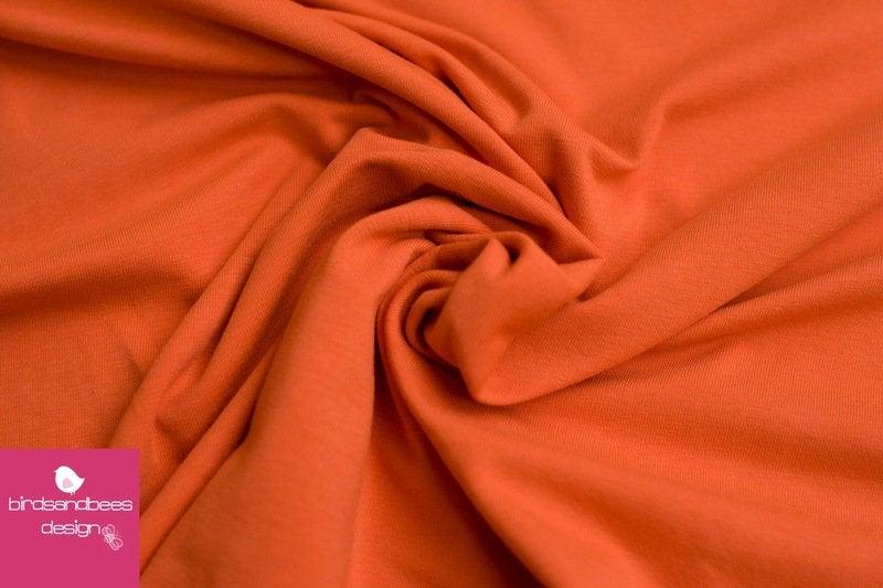 Baumwoll-Jersey UNI orange 2