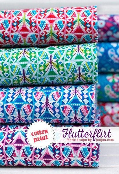 FLUTTER FLIRT Baumwolle rot by Jolijou