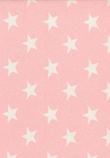 VICENTE Sterne hellrosa Jersey Öko-Tex-Standard 2