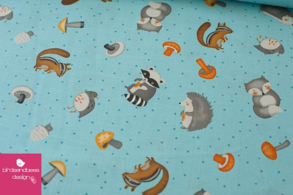 Cute Critters hellblau by Wilmingtonprints 2
