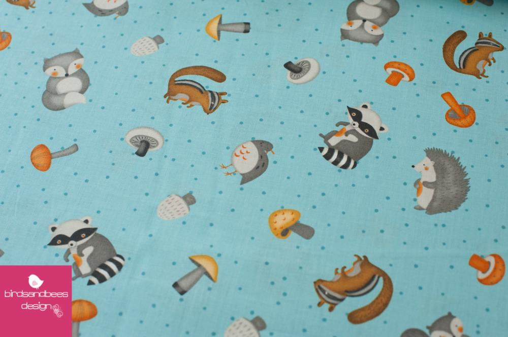 Cute Critters hellblau by Wilmingtonprints 3