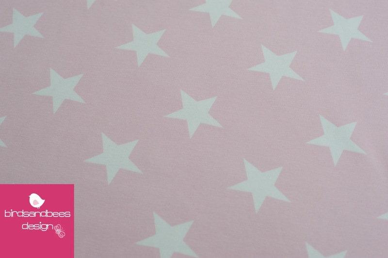VICENTE Sterne hellrosa Jersey Öko-Tex-Standard 4