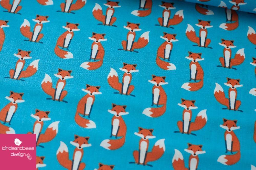 Fabulous Foxes mini blau by RKaufman