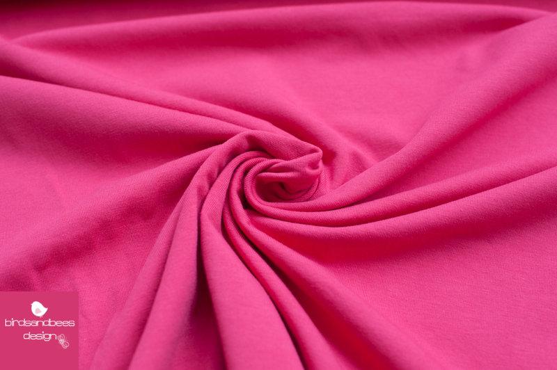 Baumwoll-Jersey UNI pink