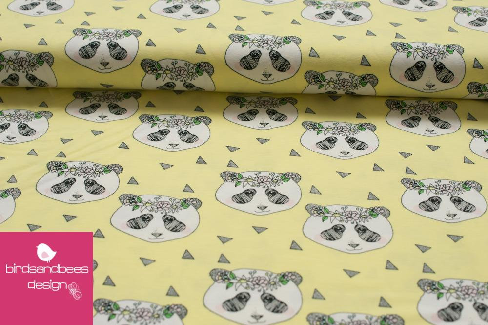 FLOWER PANDA yellow by Evelyckan Designs