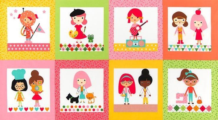 Panel GIRL FRIENDS grün by Robert